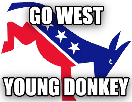 Go west young donkey