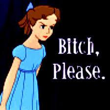 Bitch please - animated girl