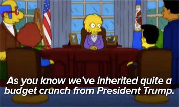 President Lisa Simpson on the Trump economic collapse