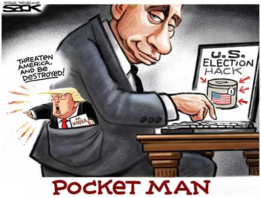 Pocket Man - Putin with Trump in his pocket