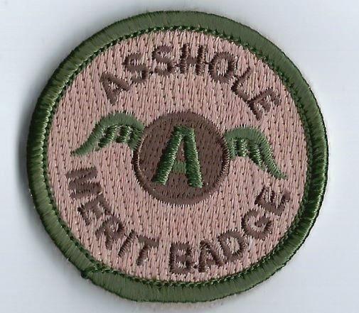 ahole merit badge