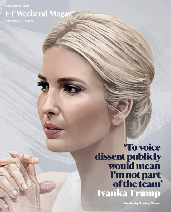 To voice dissent would mean I'm not in on it - Ivanka