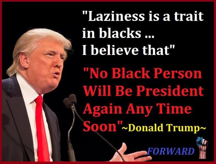 Trump anti-black quotes