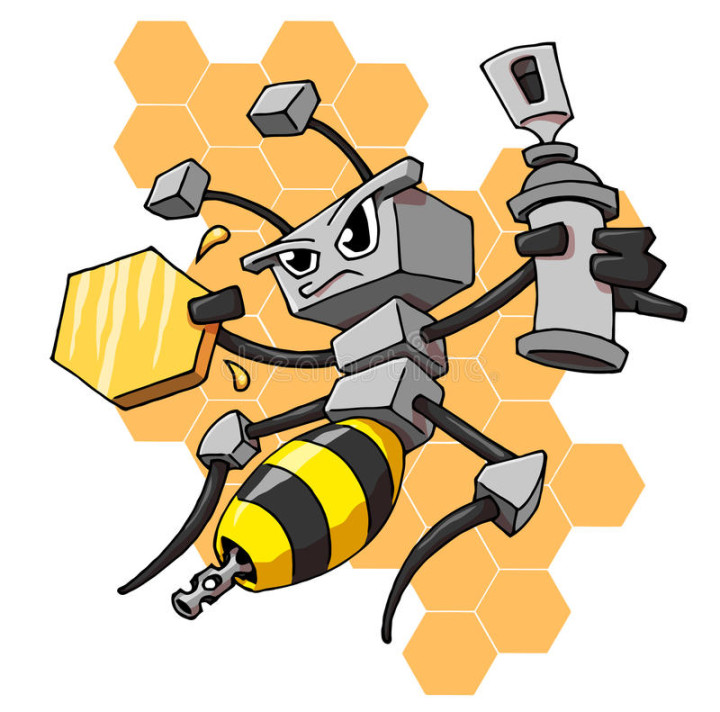 honey bee drone with Today In Bees Autonomous Robot Bees on Hoverflies further Why Do Brood  bs Turn Black further Recalling Yeats in addition Retro Vintage Black And White Queen Bee Poster Art Print 1121290 further Varroa mites.