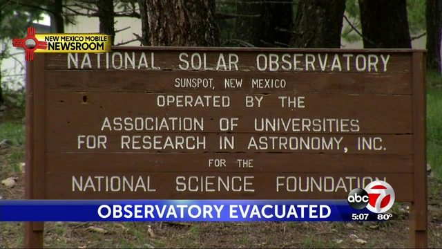 solar observatory evacuated