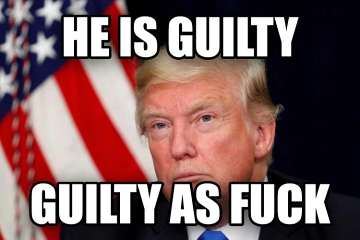 He is guilty guilty as fuck - Donald Trump