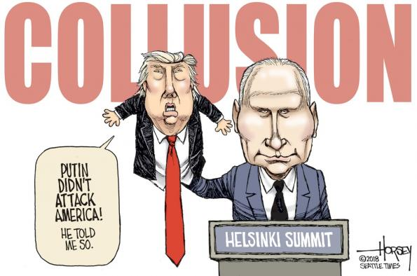 Putin didn't attack America - Trump puppet controlled by Putin
