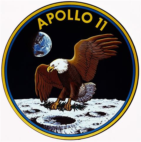 Apollo 11 mission patch (Small)