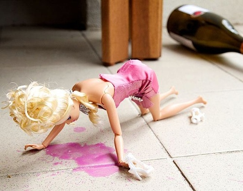 Vomiting-Barbie